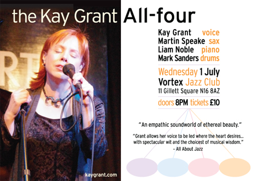 the Kay Grant All-four - 1 July @ The Vortex