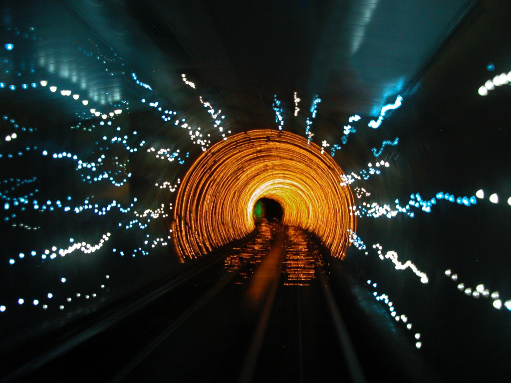 Abstract tunnel and lights